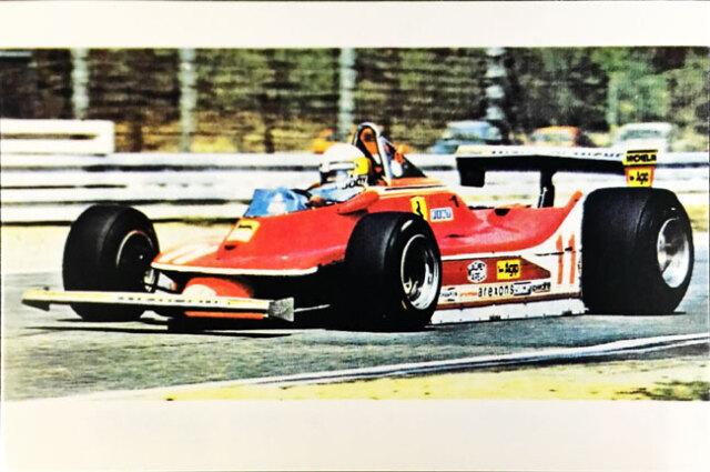 J.シェクター フェラーリ312T4 1979年公式フォトポストカード(A)