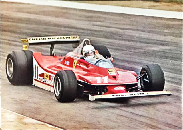 J.シェクター フェラーリ312T4 1979年公式フォトポストカード(B)