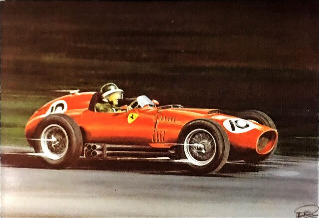 M.ホーソン フェラーリ246F1 1958年 アートポストカード