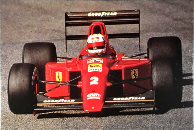 N.マンセル フェラーリ641 1990年公式フォトポストカード