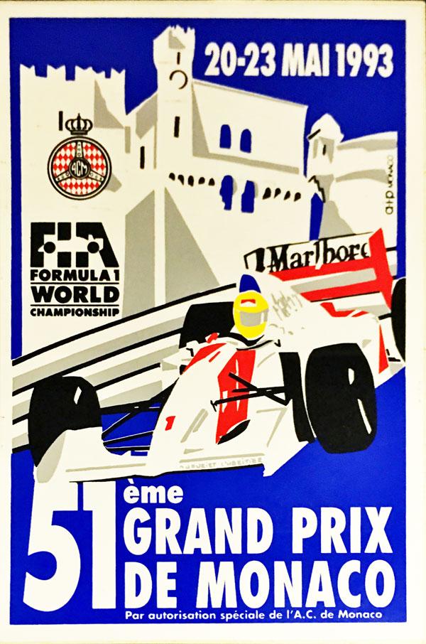 F1モナコGP 1993年 公式ステッカー