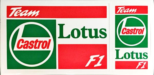 LOTUS F1(ロータス F1)1992年 チームステッカー 2枚セット
