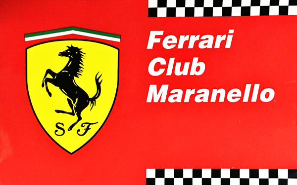 フェラーリ クラブ マラネロ (FERRARI CLUB MARANELLO)ステッカー (大)