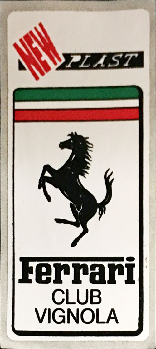 フェラーリ クラブ ヴィニョーラ(FERRARI CLUB VIGNOLA)ステッカー