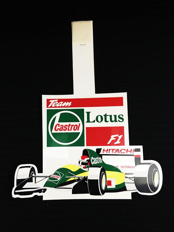 LOTUS F1(ロータス F1)1992年 プロモーション ポップ(薄いアクリル製)