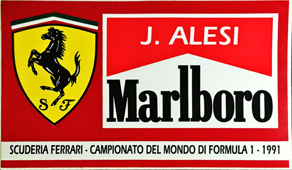 J.アレジ FERRARI MARLBORO(フェラーリ マルボロ) 1991 ステッカー