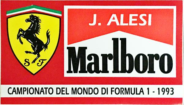 J.アレジ FERRARI MARLBORO(フェラーリ マルボロ) 1993 ステッカー