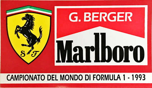 G.ベルガー FERRARI MARLBORO(フェラーリ マルボロ) 1993 ステッカー