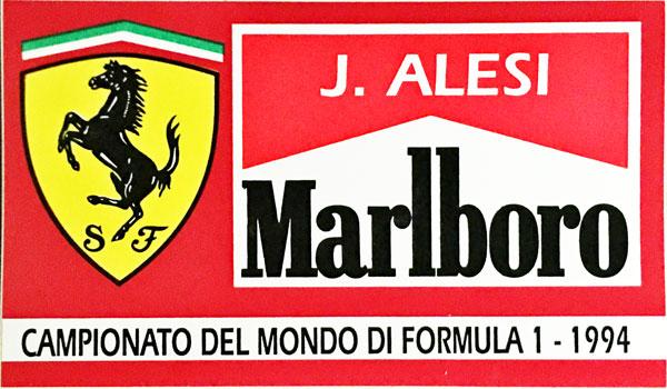 J.アレジ FERRARI MARLBORO(フェラーリ マルボロ) 1994 ステッカー
