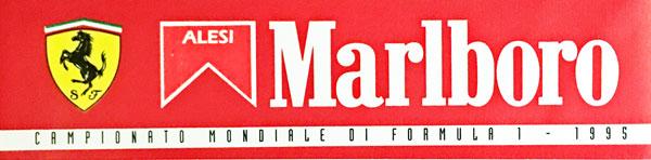 J.アレジ FERRARI MARLBORO(フェラーリ マルボロ) 1995 ステッカー