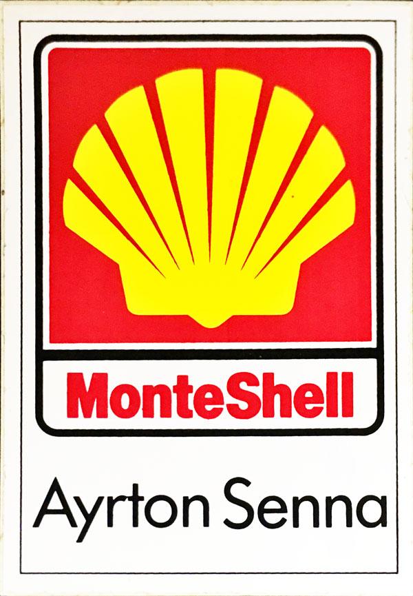 【RARE】 MONACO Shell F1モナコGP  アイルトン・セナ プロモーションステッカー