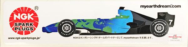 HONDA(ホンダ)F1 RA107 2007年 NGKプロモーションマシンステッカー