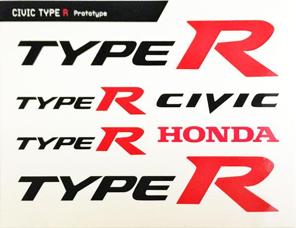 HONDA(ホンダ)TYPE R プロモーションステッカーセット