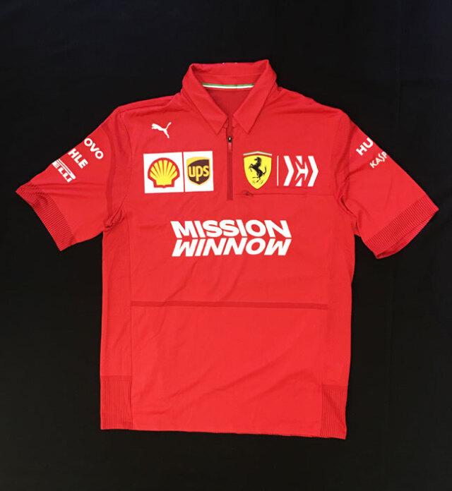 2019 フェラーリ(FERRARI F1) チーム支給品 チームスタッフポロ MWロゴ ほぼ新品 サイズM(大きめ)
