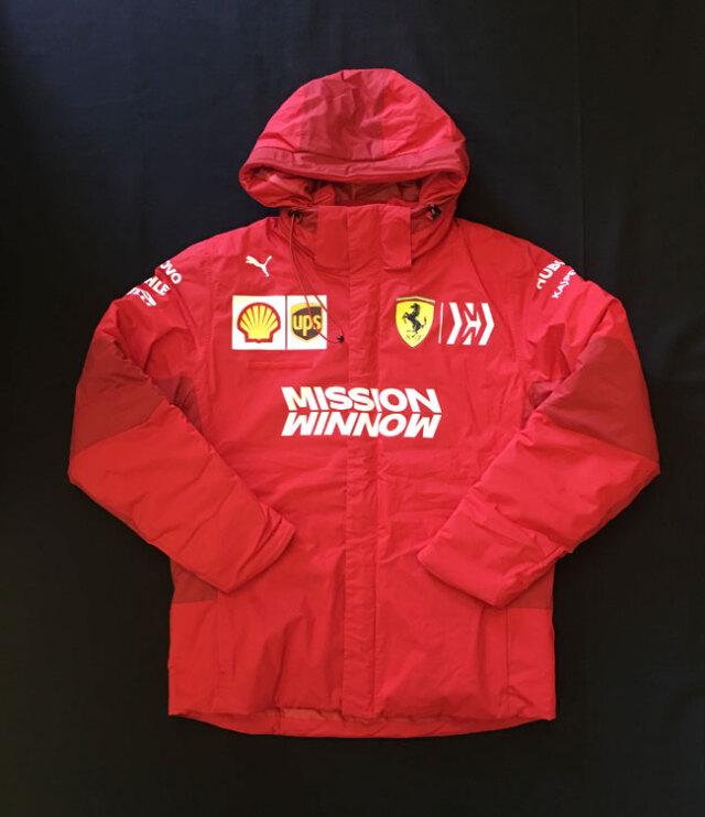 2019 フェラーリ(FERRARI F1) チーム支給品 チームスタッフウインタージャケット MWロゴ ほぼ新品 サイズM(大きめ)