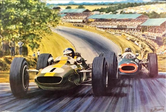 ジム・クラーク 1964 チームロータス イギリスGP アラン・プレス アートポストカード