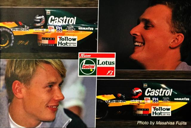 1992 ロータス F1 Castrol(カストロール) プロモーションカード ドライバー:M.ハッキネン&J.ハーバート