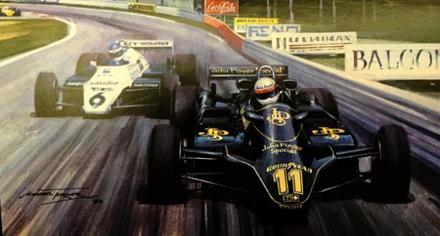 エリオ・デ・アンジェラス 1982 JPSチームロータス オーストリアGP マイケル・ターナー アートカード