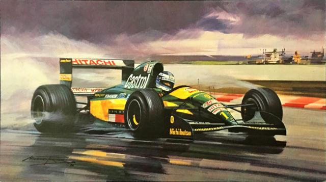 ミカ・ハッキネン 1992  チーム・ロータスF1 フランスGP マイケル・ターナー アートカード