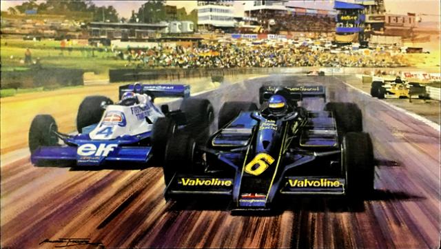 ロニー・ピーターソン 1978 JPSチームロータス オーストリアGP マイケル・ターナー アートカード