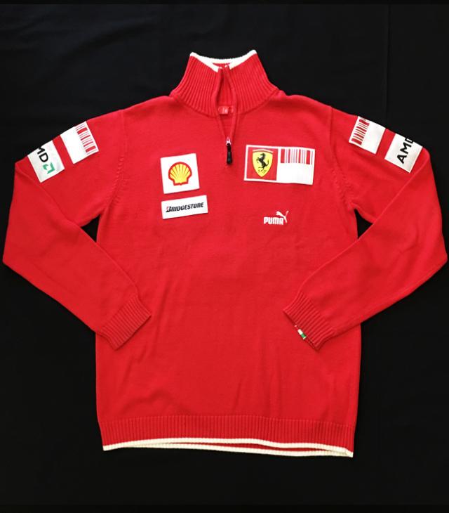 2009 フェラーリ(FERRARI F1) チーム支給品 チームスタッフセーター ノンタバコ USED サイズL