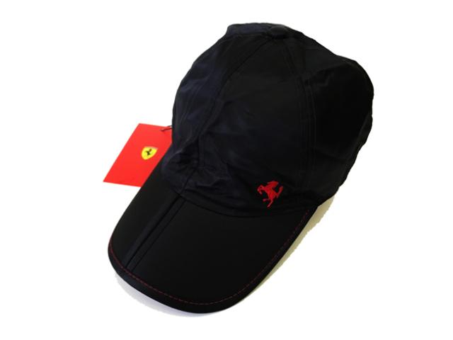 フェラーリ(FERRARI F1)F1パドッククラブ ゲスト用 折りたたみ SFキャップ ブラック タイプA(専用袋付)