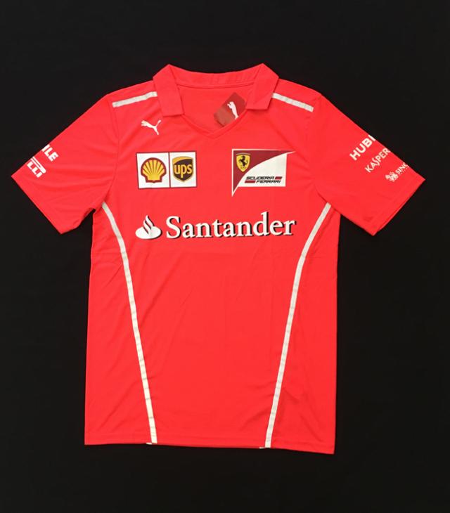 2017 フェラーリ(FERRARI F1) チーム支給品 セットアップTシャツ 新品 サイズS(大きめ)
