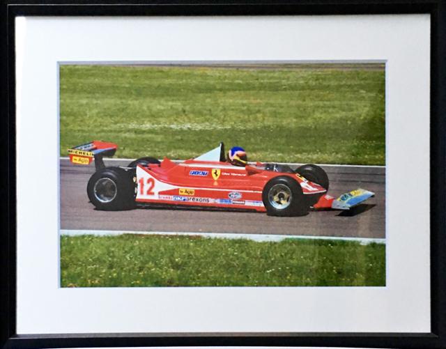 フェラーリ(FERRARI F1)フェラーリ 312T4 ジャック・ビルニューブ 2012.05.08フィオラノサーキットドライブ フォトグラフ (額装品)