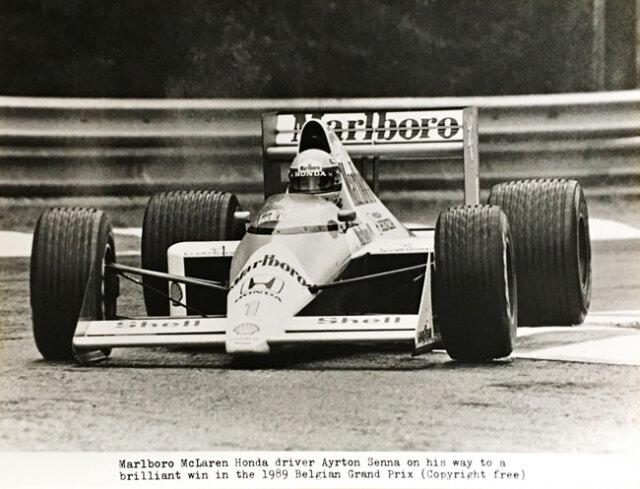 マルボロ マクラーレン ホンダ 1989年 A.セナ MP4/5 ベルギーGP公式フォト