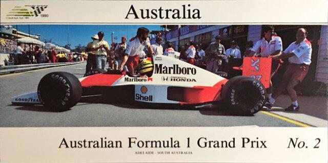 オーストラリアGP 1990年公式カード A.セナ