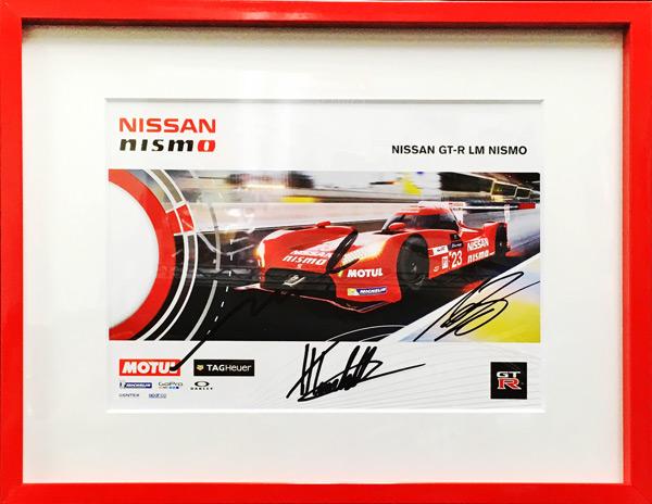 H.ティンクネル&M.クルム&A.バンコム 直筆サイン入 2015年 NISSAN(日産) GT-RLM NISMO WEC LMP1 チームカード(額装品)