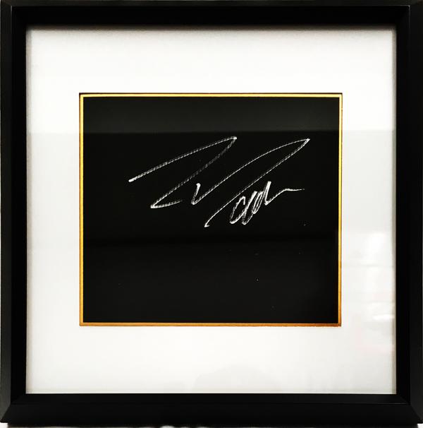 【SALE】F.マッサ 直筆サイン入 ブラック色紙(額装品)