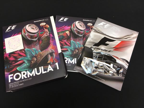 F1公式プログラム 2017 メキシコGP 公式プレスキット(メディアキット付)