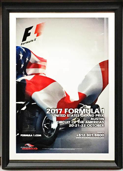 2017 F1アメリカGP 開催記念 公式ポスター(額装品)