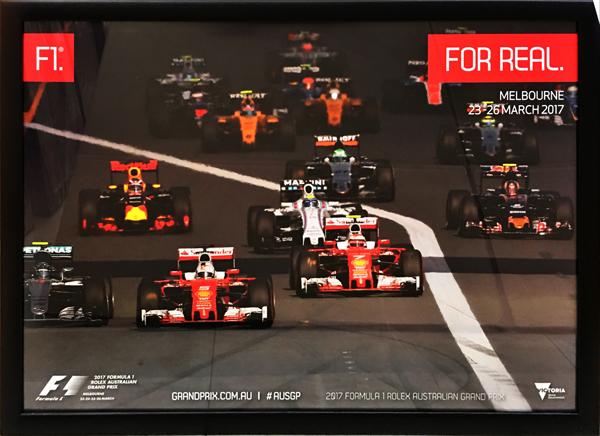 2017 F1オーストラリアGP 開催記念 公式ポスター(額装品) TYPEA