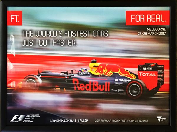 2017 F1オーストラリアGP 開催記念 公式ポスター(額装品) TYPEB