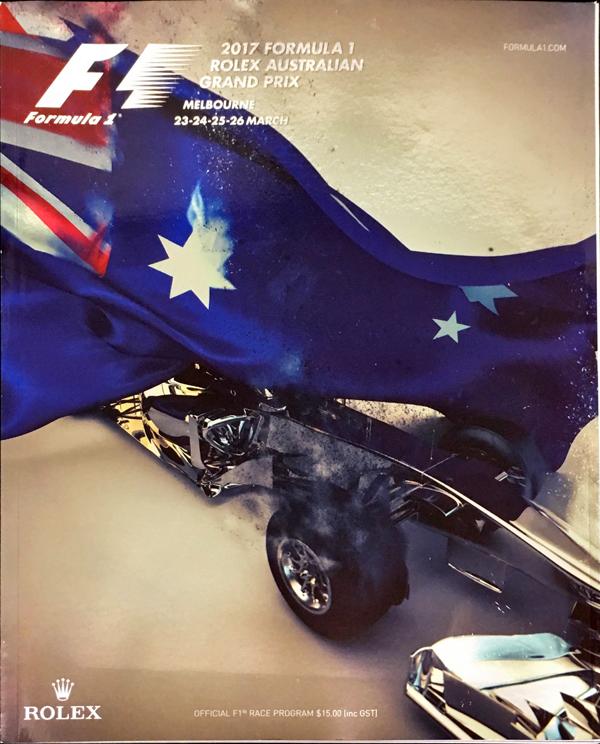F1公式プログラム 2017 オーストラリアGP