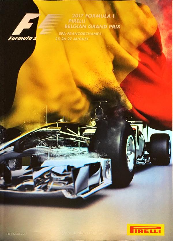 F1公式プログラム 2017 ベルギーGP