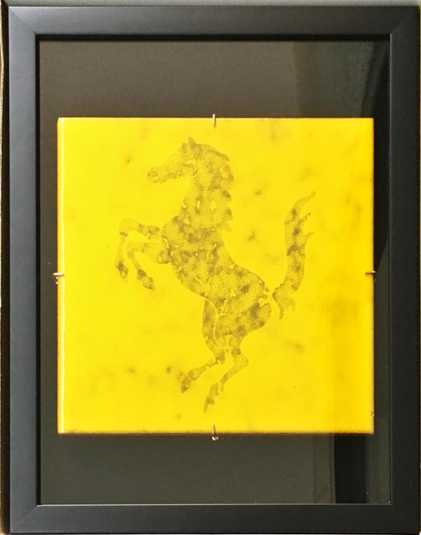 FERRARI フィオラノ エンツォ・フェラーリ 執務室壁画タイル(額装品)