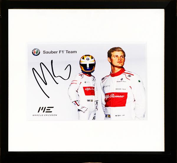 【SALE】M.エリクソン 直筆サイン入 ザウバー アルファロメオ F1 2018 ドライバーズカード(額装品)