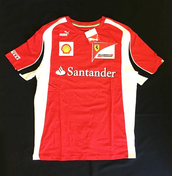 2011年 フェラーリ FERRARI F1チーム支給品 チーム ピットTシャツ 半袖 サイズL 新品