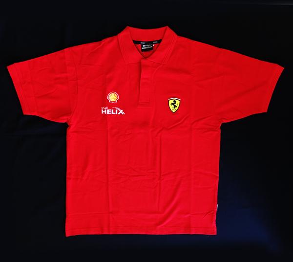 フェラーリ FERRARI F1シェルSHELLパドックゲスト用 ポロ 半袖 サイズL(日本サイズ 大きめのXL) 新品