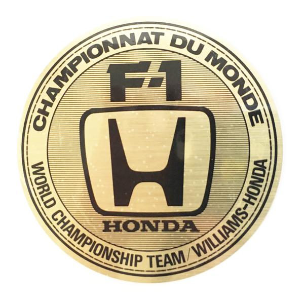 HONDA ホンダ 1987年 ウィリアムズ・ホンダ コンストラクターズ選手権獲得 記念ステッカー