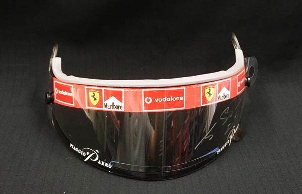 M.シューマッハ 直筆サイン入 本人用 フェラーリ 2002年 バイザー