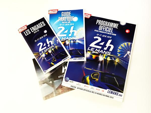 【並行輸入品】2018年ルマン24時間レース公式プログラム(ポルシェ70周年記念ポスター&ルマン24ハンドブック付)