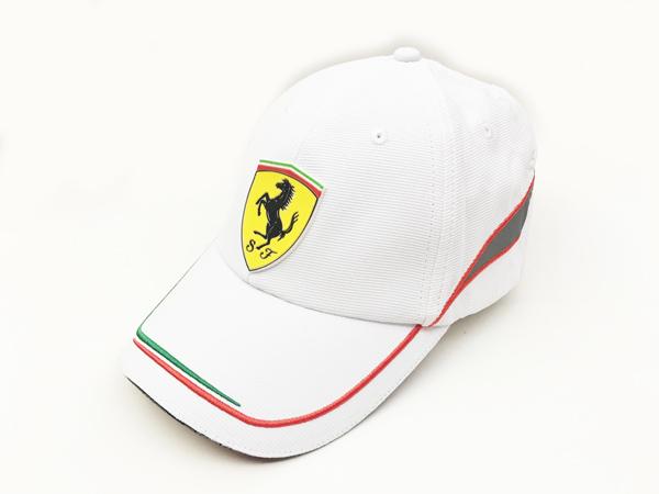 フェラーリ FERRARI SF イタリアンライン キャップ ホワイト