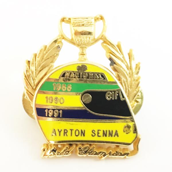 アイルトン・セナ 1988・90・91 3回ワールドチャンピオン記念 ピンバッチ