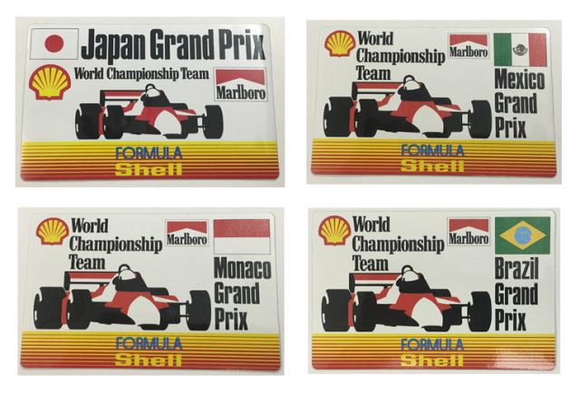 マールボロ(Marlboro)&シェル(Shell) 1990年代 プロモーションステッカー (各GP)