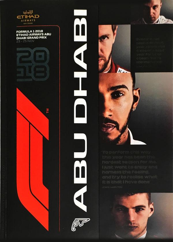 F1公式プログラム 2018 アブダビGP (メディアキット付)