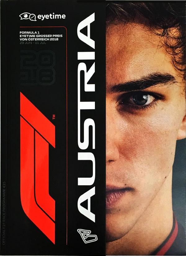 F1公式プログラム 2018 オーストリアGP (メディアキット付・USB付・カバー汚れあり)